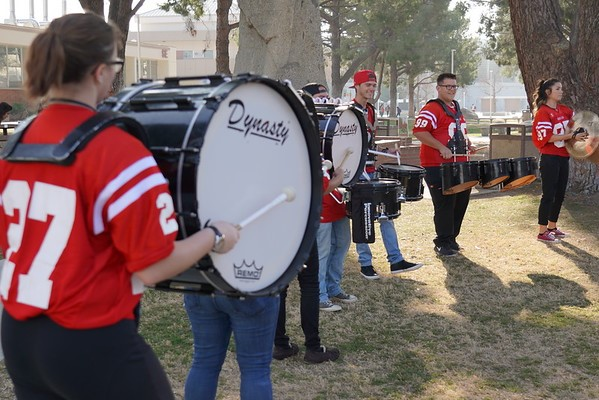 BC Drumline plays for the crowd