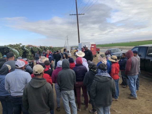 farmworkers gathering